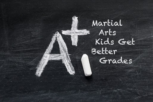 Chalkboard with Grade of A+ for Kids Karate